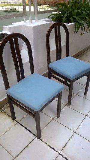 Juego de comedor de roble con seis sillas