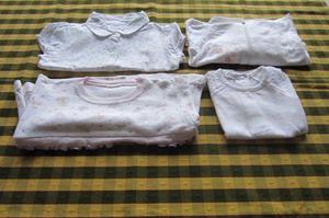 Lote de 4 prendas variadas para beba de 9 a 12 meses, marca