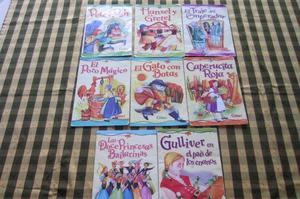 Lote de 8 libros de cuentos clásicos para niños. Excelente