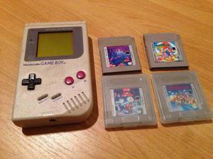 Nintendo Game Boy Original 1989 + 4 Juegos
