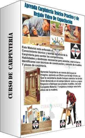 Aprenda Carpintería + Regalo Curso De Carpintería En