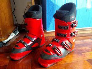 Botas De Ski Rossignol Color Rojo Talle 24.5 Como Nuevas!