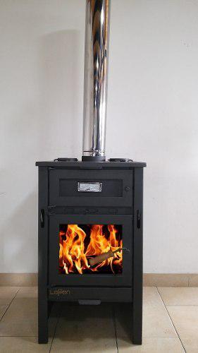 Lepen Calefactor, Estufa A Leña Modelo 17000 Kcal Con Horno