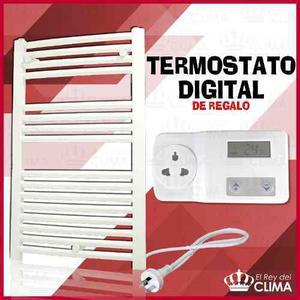 Toallero Eléctrico Alma 80 Blanco 450 Kcal/h + Promo +