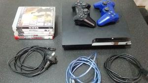 Vendo PlayStation 3 de 160 gb 2 Joysticks 5 Juegos