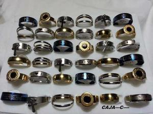 36 anillos de acero quirurgico surtidos excelentes 75e75296455