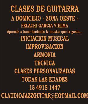 CLASES DE GUITARRA A DOMICILIO - ZONA RAMOS MEJIA