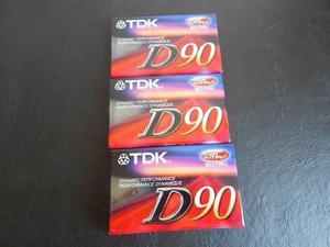 Cassettes Tdk D90 Lote X 5 De Japon Y Armado En Tahilandia