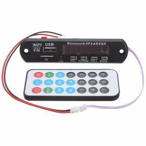 Módulo Mp3 Usb/sd/fm/aux Con Bluetooth Y Control Remoto