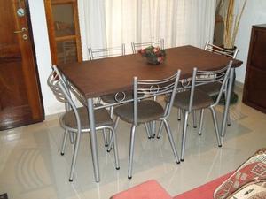 Mesa y 6 sillas !!! Envío gratis a domicilio !!! ♥