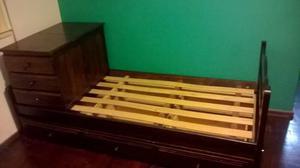 Se vende cuna cama - funcional, con baulera y cajonera