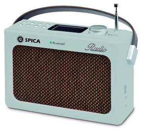 Spica Sp-219 Radio Am/fm Bluetooth Usb Aux Reloj Display Lcd
