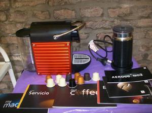 cafetera nespresso C60, mas aeroccino 3