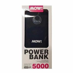 Cargador Portatil Power Bank 5000 mah Con Linterna Led Mow!