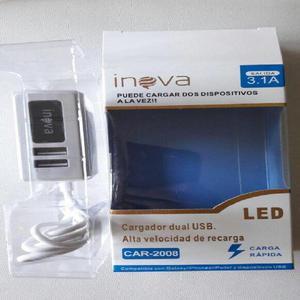 Cargador Usb Carga Rapida 3.1 Inova con Luz Led compatible