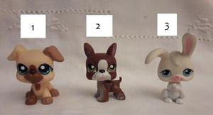 Littlest Pet Shop Perritos y Conejito sin accesorios