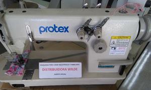 Máquina de dos agujas Protex cadeneta-tirillera con mesa y