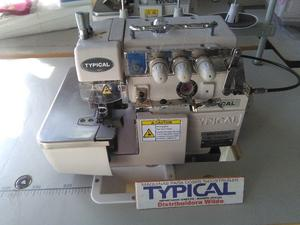 Overlock industrial de 3 hilos con atraque Typical GN-793BK