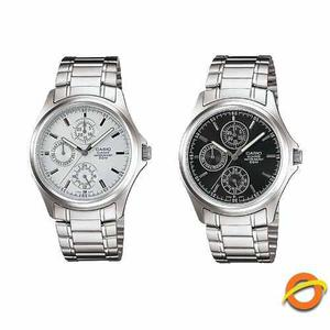 Reloj Casio Mtp-1246d Acero Inoxidable Fecha Dia 50m Wr