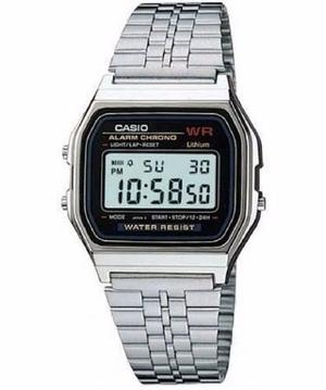 Reloj Casio Vintage Plateado A-159wa-n1 Hombre Digital Retro