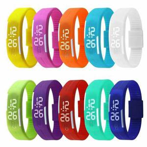 Reloj Pulsera Unisex Digital Tactil Silicona 50 U Por Mayor