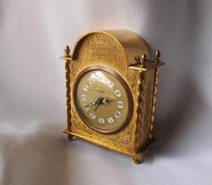 Antiguo Reloj De Mesa Tressa Tempus Fugit Alemán A0