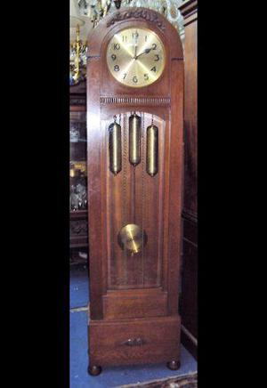 Antiguo Reloj De Pie Carrillon Alemán Estilo Capilla (2065)