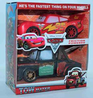 Auto Cars Rayo Mc Queen Y Mate A Friccion Licencia Disney
