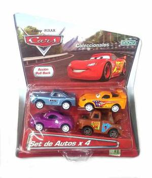 Autos Cars 3 Pull Back X 4 Licencia - Jugueteria Aplausos