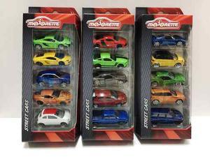 Majorette Pack X5 Autos Street Cars 1:66 Original Tv Bigshop