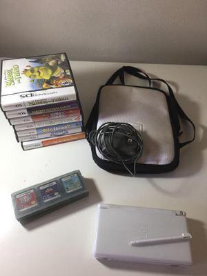 Nintendo Ds Lite + 7 Juegos + Funda + Cargador