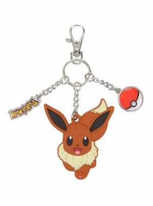 Pokemon Eevee llavero goma y metal original