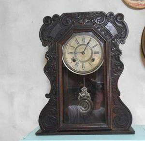 Reloj De Pared Ansonia Péndulo Antiguo F