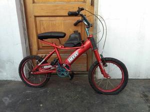 bicicleta rodado 16 reforzada marca WINNER con amortiguacion