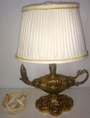 Antigua e importada lampara bronce macizo aladino 1,536 Kgs