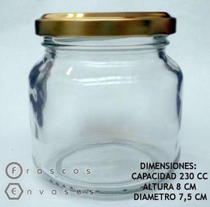 FRASCOS AMANECER DE 230 CC CON TAPA METÁLICA. DULCES Y