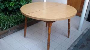Juego comedor antiguo estilo windsor mesa con extensión y 6