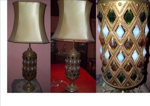 Lámpara de bronce con 4 luces