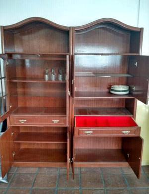 Mueble Antiguo Dos Cuerpos De Cedro