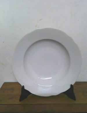 Platos Hondos x 4. Porcelana. Antiguos.