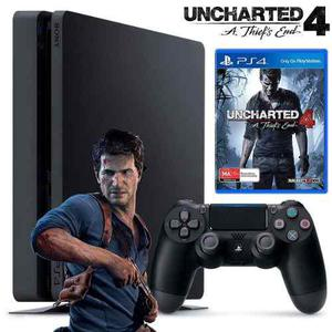 Playstation 4 Slim Ps4 500 Gb Uncharted 4 Joystick Venex