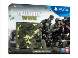 Ps4 Slim 1tb Edición Limitada Call Of Duty Ww2+gtia+env