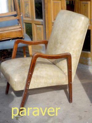 Raro y lindo Sillon Escandinavo Madera Diseño Retro Vintage