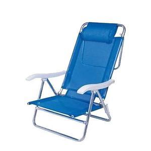 Reposera Camping Aluminio 7/8 Coversol Summer Azul Tio Musa