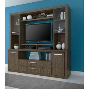 Mueble modular madera blanco laqueado para tv posot class for Mueble rack
