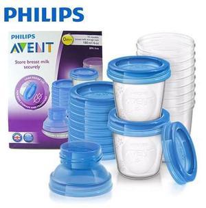 Vasos Contenedores De Leche 180ml Avent Philips Mundo Manias