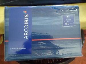 Vendo sábanas ARCOIRIS 2 plazas y media 180 hilos, color