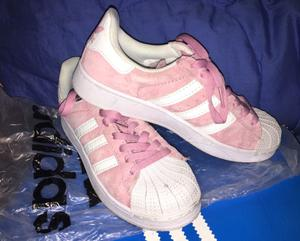 Zapatillas adidas superstars gamuza rosa 37
