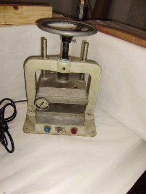 prensa vulcanizadora para moldes de joyeria