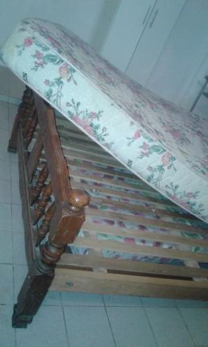 vendo cama con colchón de 2 plazas usado en perfecto estado